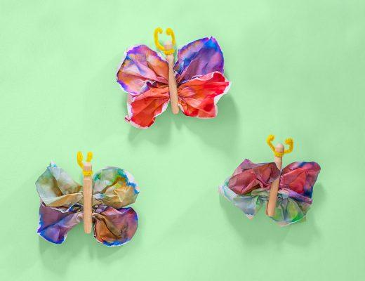 mom blogger, mommy blogger, parental influencer, mom blog, mommy blog, toddler activity, tie dye, tie dye craft, diy butterfly, toddler craft, coffee filter craft
